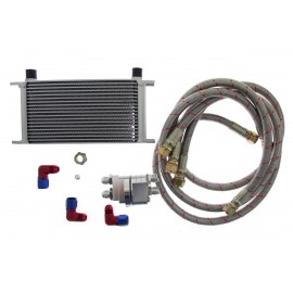 Oil Cooler KIT D1Spec 19 rzędów + Relocation
