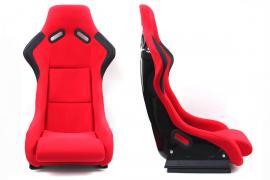 Fotel sportowy EVO WELUR RED
