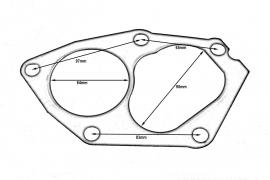 Uszczelka turbo Mitsubishi Lancer Evo 4-9 4G63