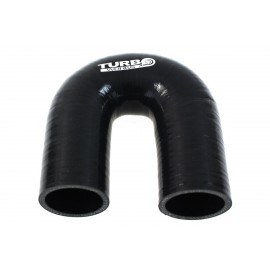 Kolanko 180st TurboWorks Black 76mm