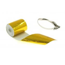 Zestaw Taśma termiczna złota 5m + opaski