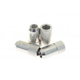 Kute nakrętki D1Spec HEX 1.25 silver