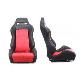 Fotel sportowy R-LOOK Skóra Black - Red