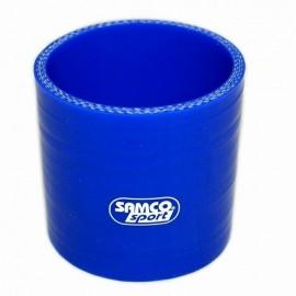 Łącznik prosty silikon 70mm Blue
