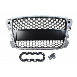 GRILL AUDI A3 8P RS-STYLE CHROME-BLACK (07-12)