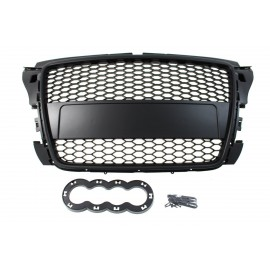 GRILL AUDI A3 8P RS-STYLE GLOSS BLACK (07-12)
